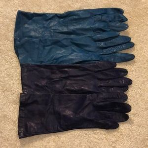 Leather Newman Marcus gloves with silk lining